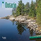Ontario 2018 7 x 7 Inch Monthly Mini Wall Calendar, Canada Canadian City