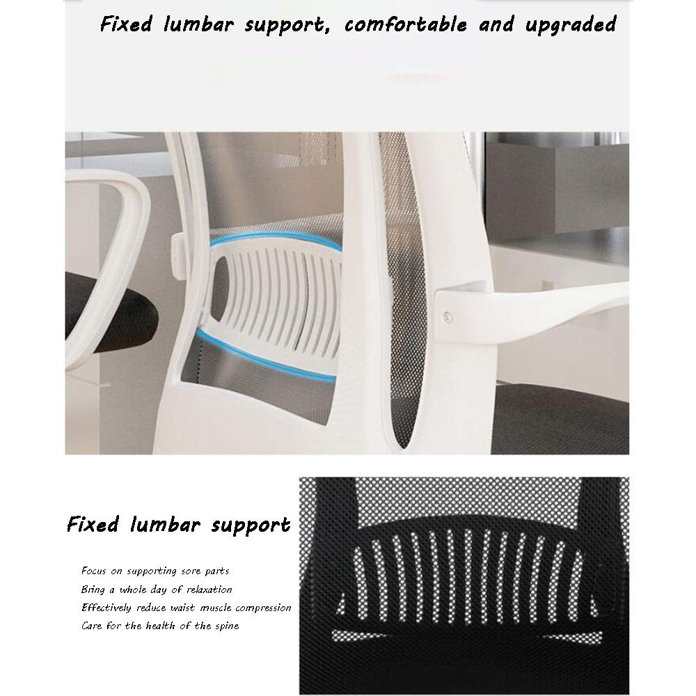 Verkställande stol, integrerat gjutet ryggstöd förhöjande roterande hushåll kontorsstol ergonomi nät säte Nominell lastkapacitet: 150 kg (150 pund) (Färg: svart) Svart