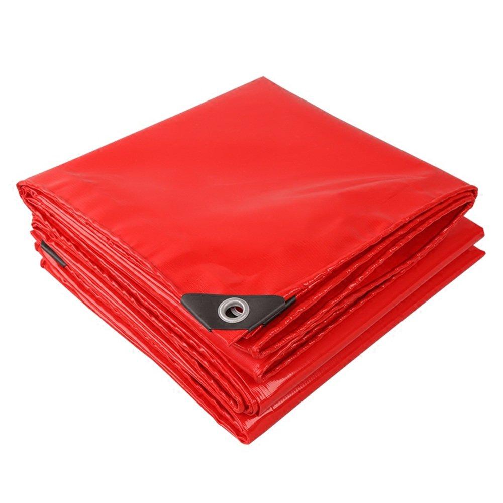 CHAOXIANG 厚い 折りたたみ可能 両面 防水 耐高温性 耐寒性 軽量 耐食性 耐摩耗性 防風 PVC 赤、 520g/m 2、 厚さ 0.45mm、 17サイズ (色 : 赤, サイズ さいず : 5×6m) B07DBPGJDJ 5×6m|赤 赤 5×6m