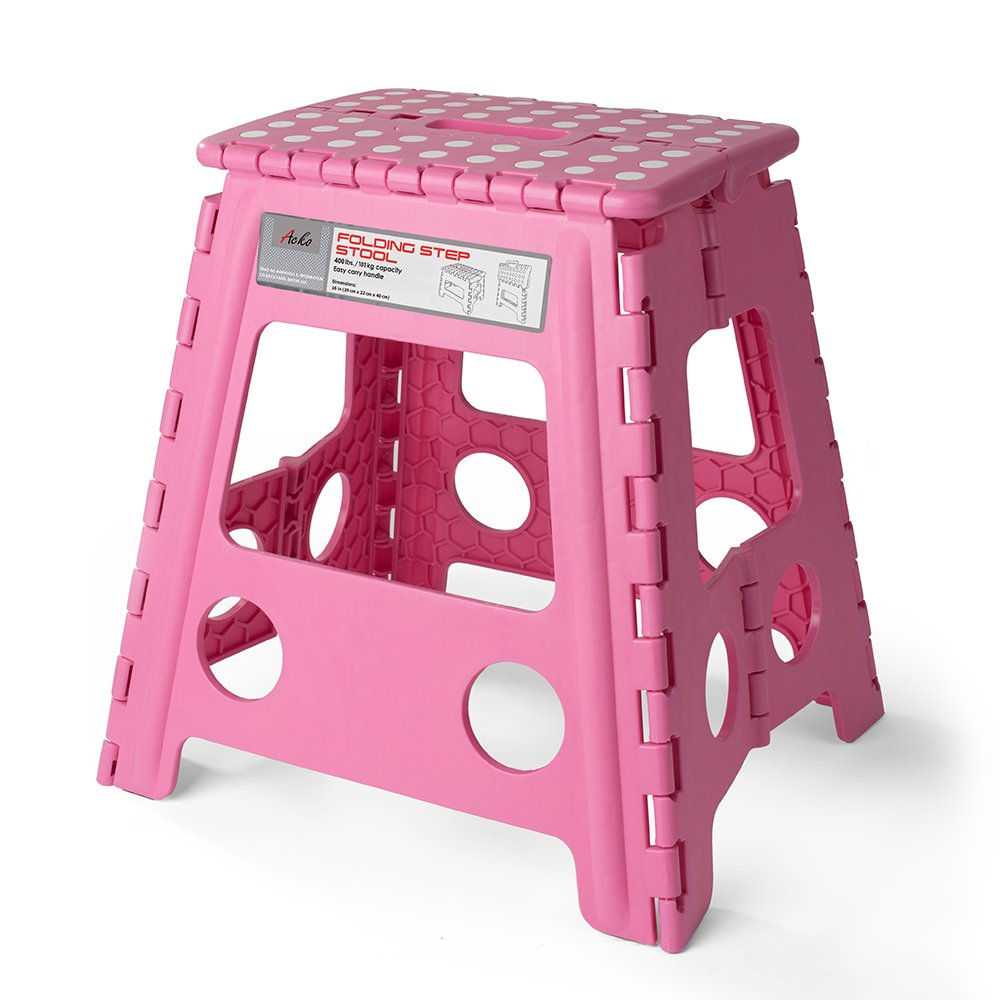 Luxury Pink Folding Step Stool