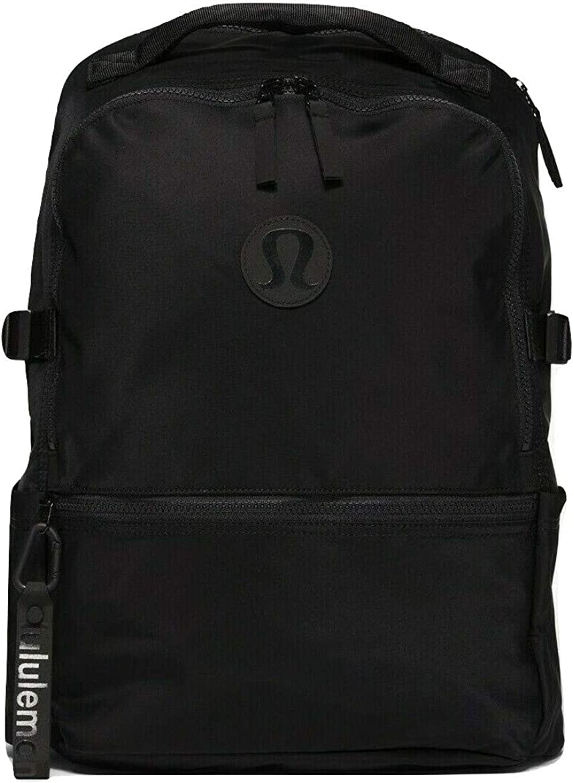 "LULULEMON Lightweight New Crew fits 15"" laptop Backpack 22L Gym Travel School - Black"