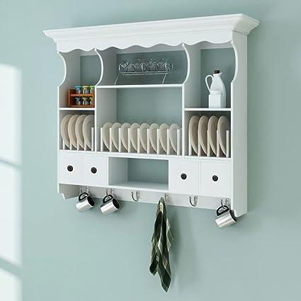 Amazon Com K A Company Wooden Kitchen Wall Cabinet White