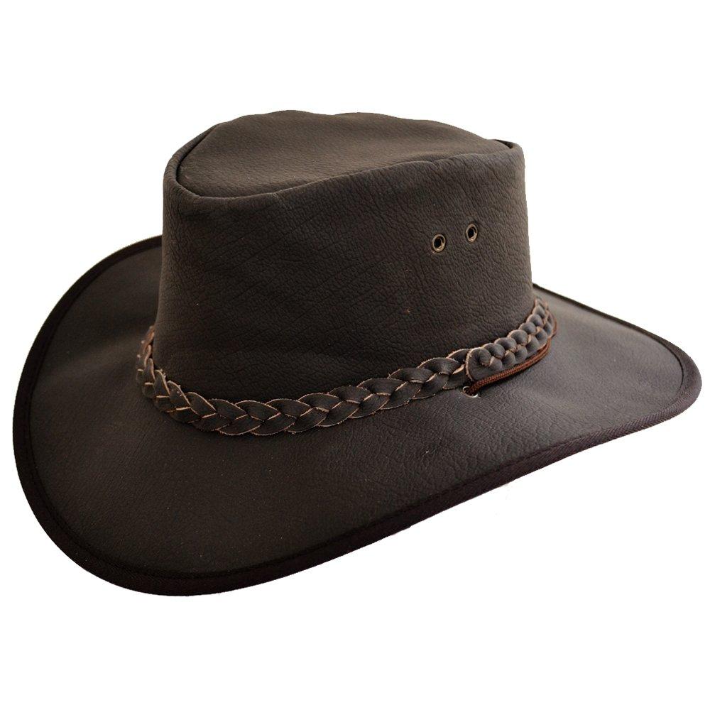 Cowboy Hut Bushwacker Lederhut Hut Herren Wachs Lederhut Outdoor Hut Leder wasserdicht -Safari Hut Safari//Outdoor//S/üdafrika//Outback handgefertigt