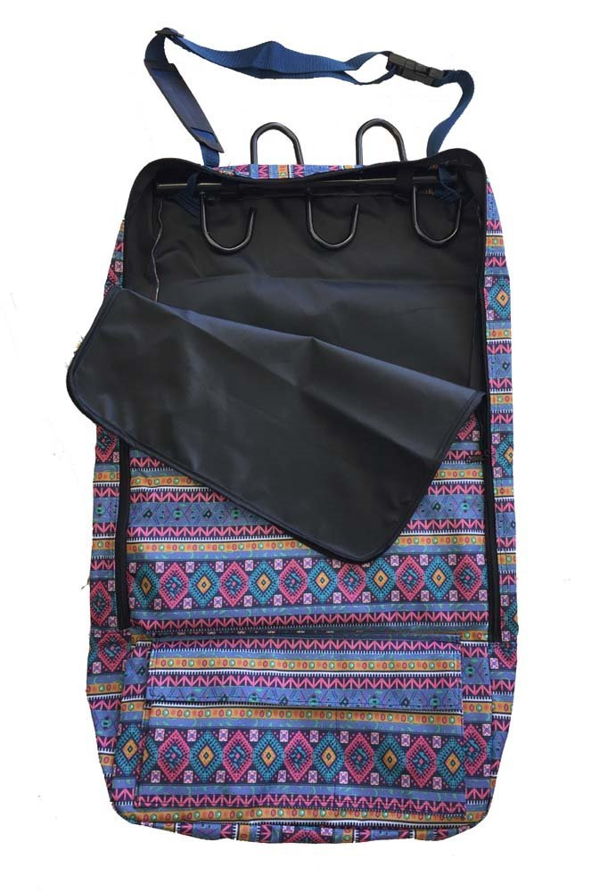 Deluxe Bridle Halter Tote Bag with Removable Tack Rack Aztec Print