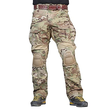 062c774f72e IDOGEAR EmersonGear Men G3 Multicam Combat Pants with Knee Pads Airsoft  Hunting Military Paintball Tactical Camo