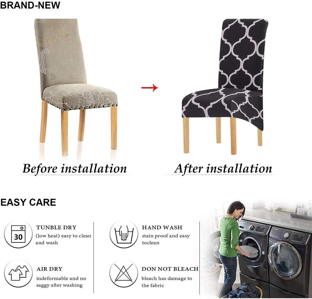 KELUINA Tela de impresión Estiramiento XL Fundas para sillas de ...