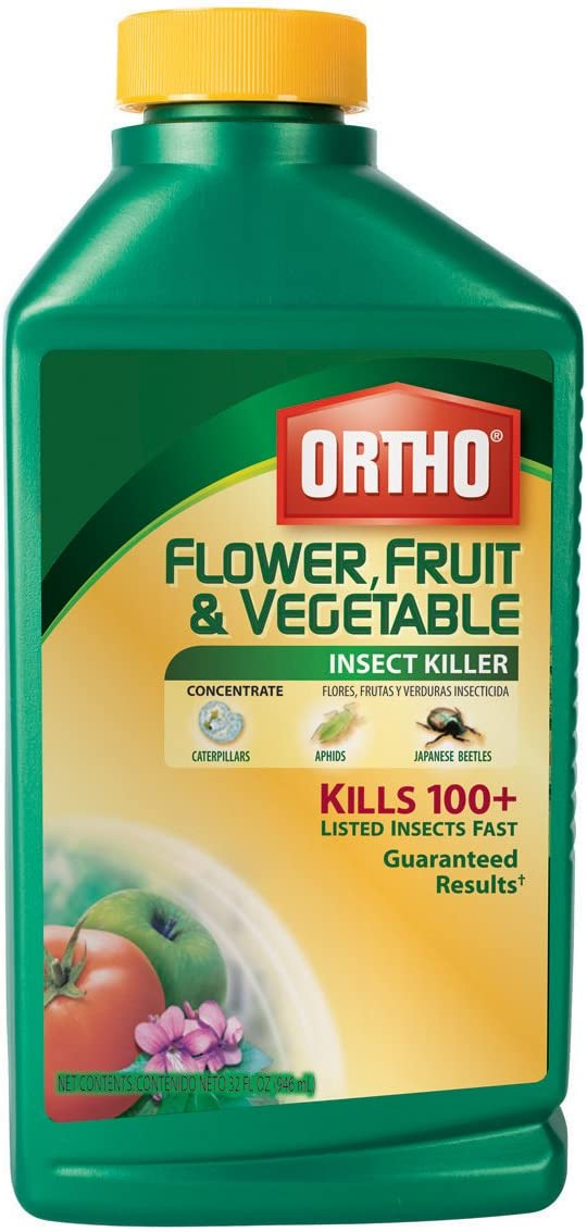 Ortho 0345110 Flower, Fruit and Vegetable Insect Killer Concentrate, 32-Ounce (Garden Insecticide)