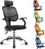 Popamazing Multicolor Swivel Stylish Fabric Mesh Office Furniture Excutive Desk Chair New (Style A, Black)
