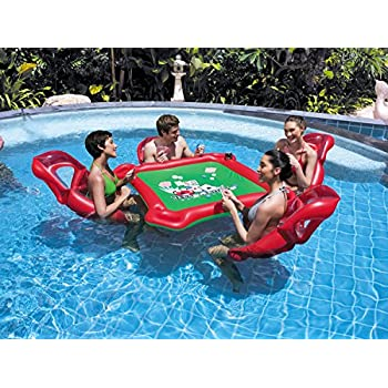 Ancaixin Inflatable Rafts Pool Loungers Floats Mat With Poker And Chips For Pool