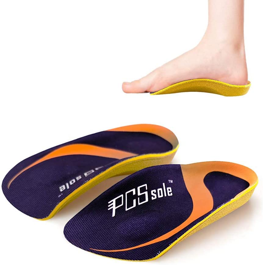 PCSsole 3/4 Length Comfort Orthotic Inserts for Flat Feet,Plantar Fasciitis, Bone Spur,Arch Support for Men and Women-Walking, Standing ((L:(Men9-11/Women10-12))): Health & Personal Care