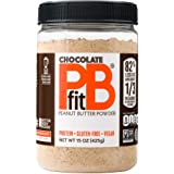 PBfit All-Natural Chocolate Peanut Butter Powder 15 Ounce, Chocolate and Peanut Butter Powder from Real Roasted Pressed…