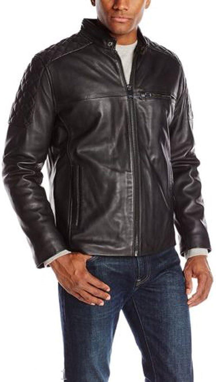 Men Leather Jacket Coat Motorcycle Biker Black Slim Fit Outwear Jackets LTC1254