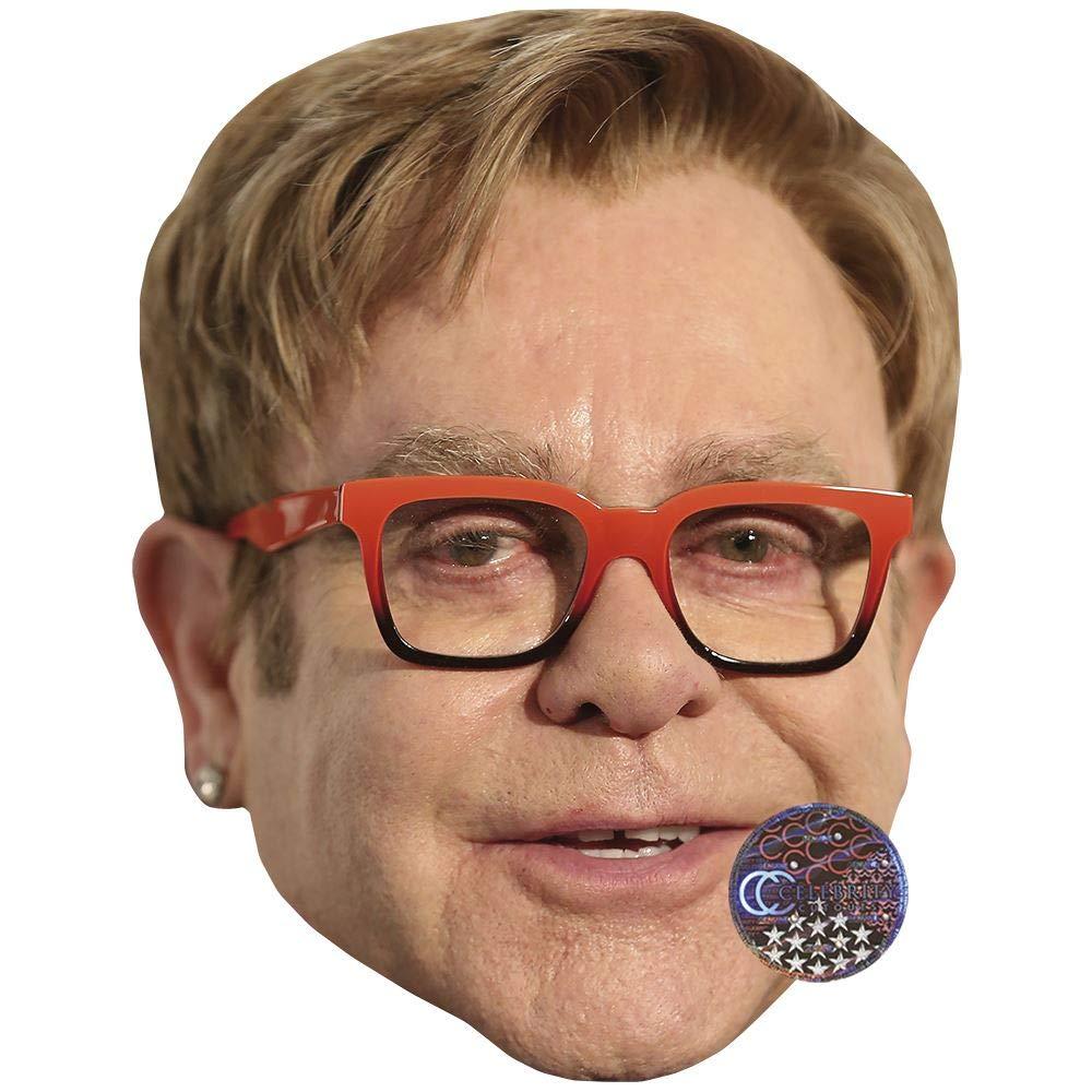 Glasses Elton John facce di cartone Maschere di persone famose