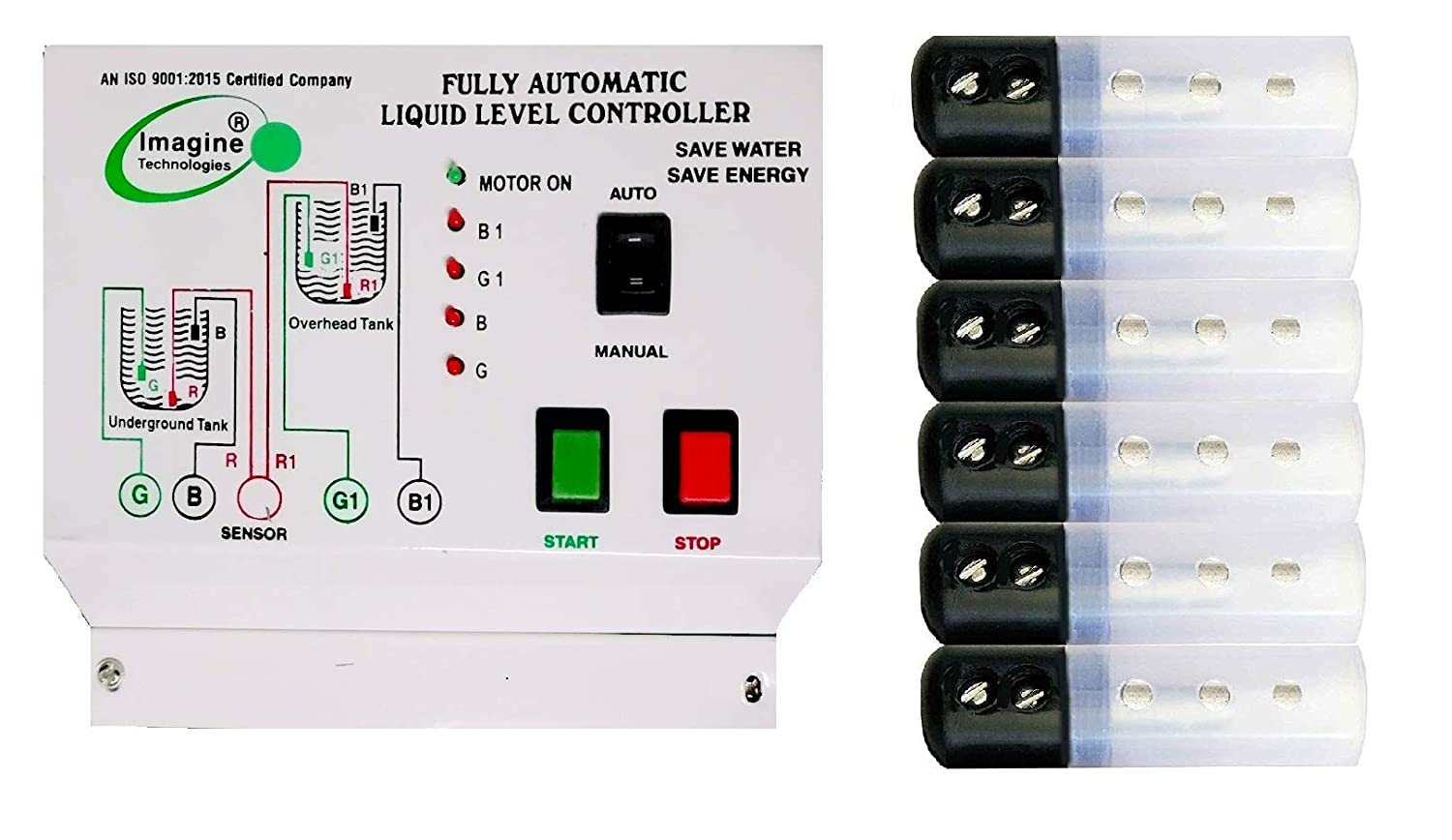 Fully Automatic Water Level Controller and Indicator with Up and Down Tank  Sensor with 1 Year Warranty.: Amazon.in: Industrial & Scientific