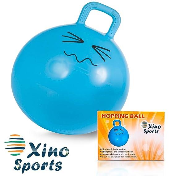 XinoSports Bola Saltarina 22 Pulgadas Azul: Amazon.es: Deportes y aire libre