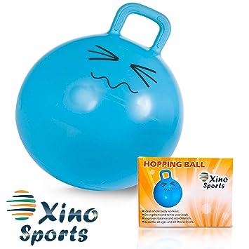 XinoSports Bola Saltarina 22 Pulgadas Azul: Amazon.es: Deportes y ...