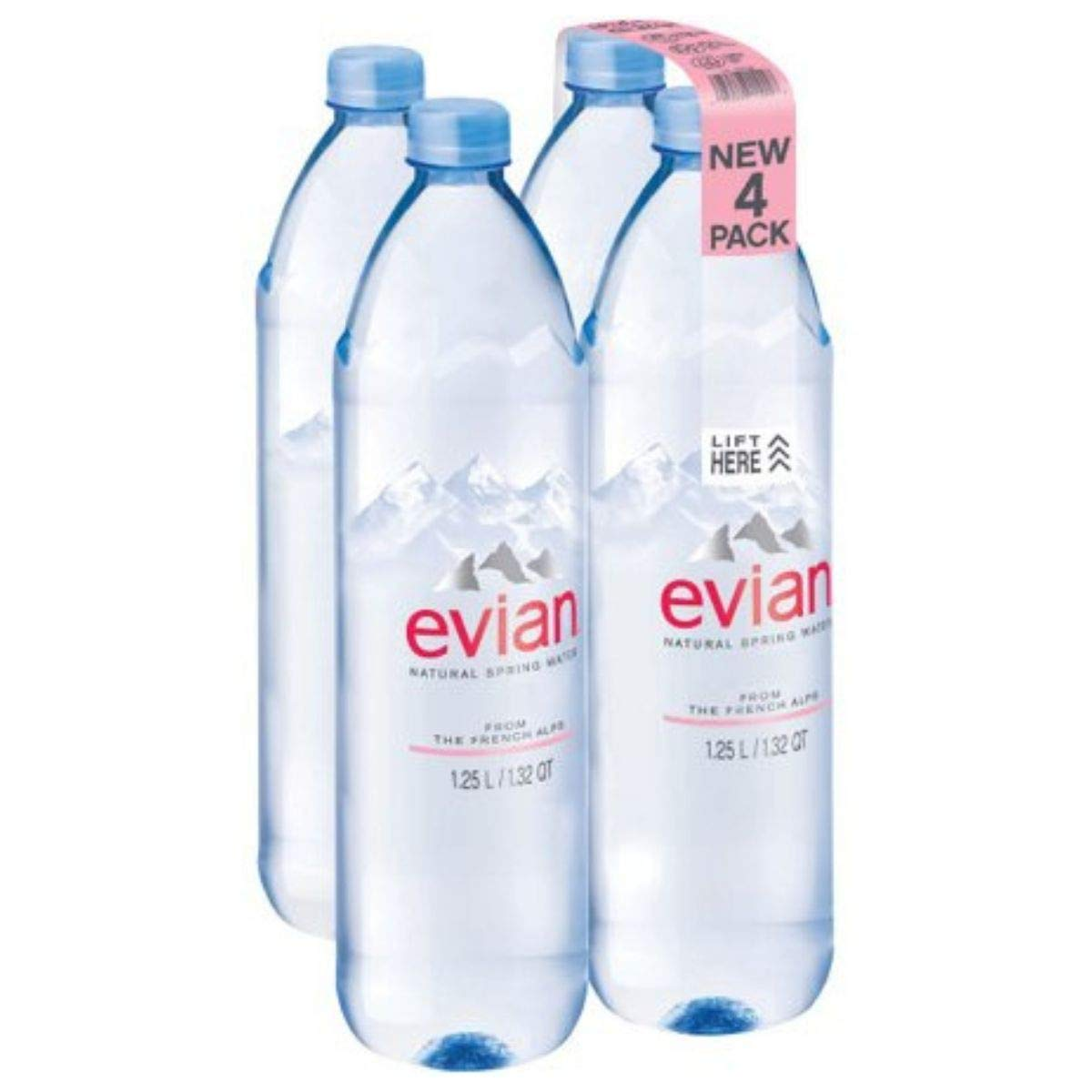 evian Natural Spring Water, 1.25 L, (Pack of 24) by evian