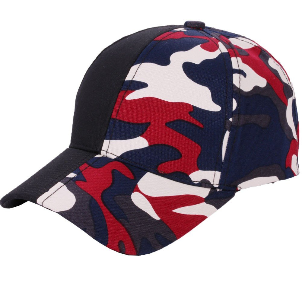 CSSD Clearance Unisex Fashion Adjustable Camouflage Stitching Baseball Dome Caps (A)