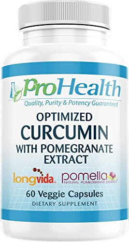 ProHealth Optimized Curcumin Longvida with Pomella Pomegranate Extract 60 Veggie Capsules