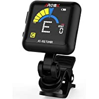 AROMA Guitar Tuner Clip-on, Rechargeable Clip On Tuner for All Instruments Bass,Ukulele,Violin,Mandolin and Banjo AT102