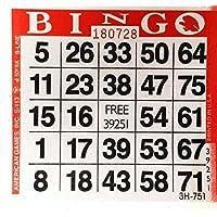 1 en Red Bingo Paper Cards - 500 tarjetas por paquete