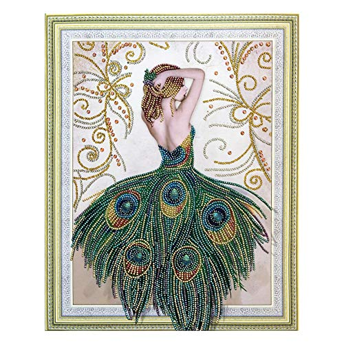 (Ingzy DIY Special Diamond Painting Kits for Adults,5D Crystal Picture Art Cross Stitch Partial Drill Artwork Mosaic Kit Wall Decor - Peacock)