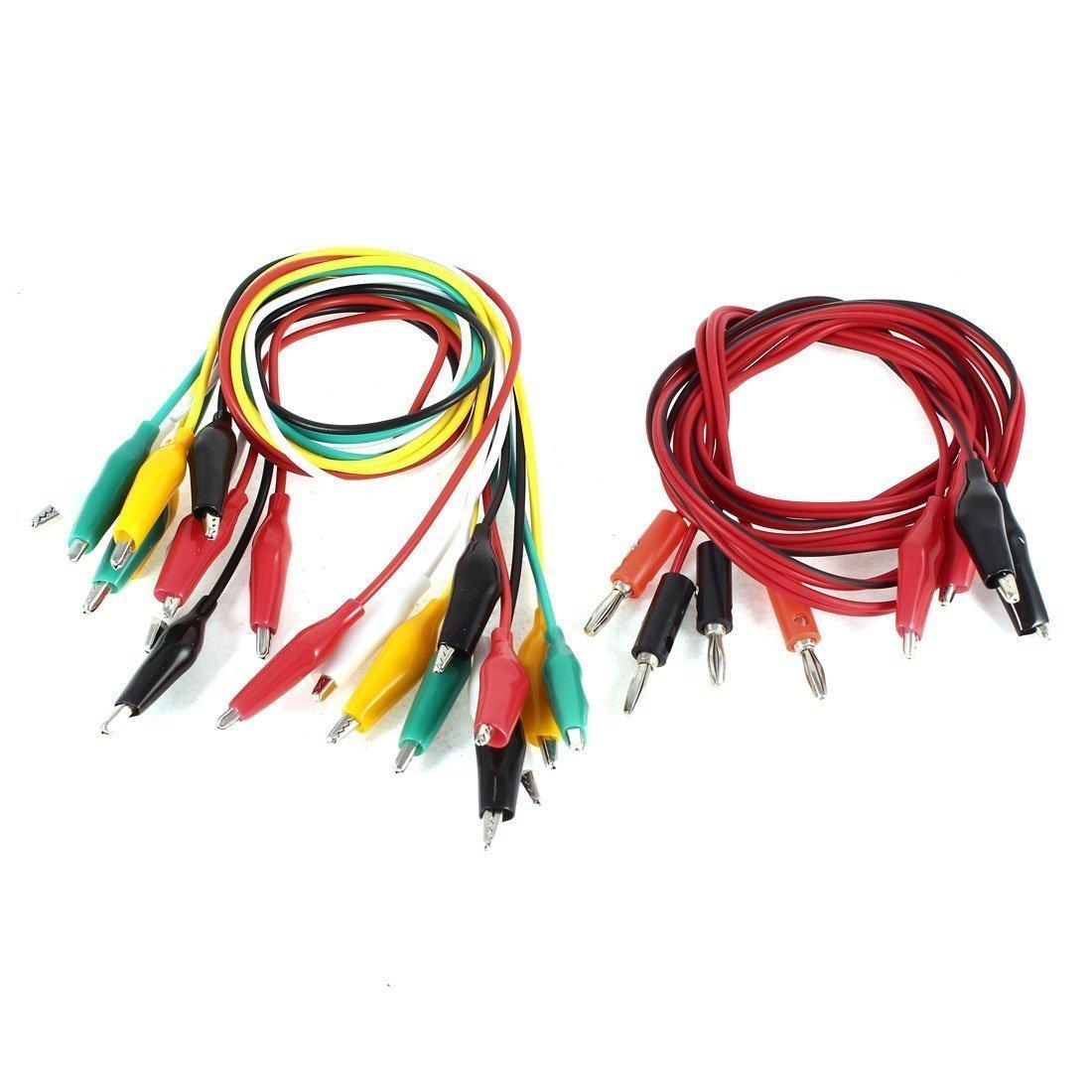 Banana plug to plug connector probe test leads 100cm