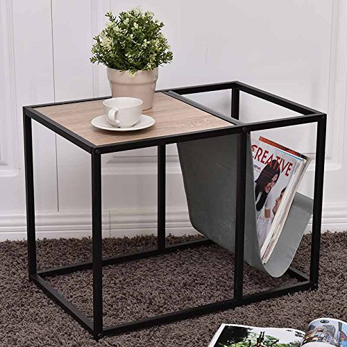 End Tables, BestComfort Side Table, Wood End Table with Magazine Holder, Stylish & Functional Metal End Table For Sale