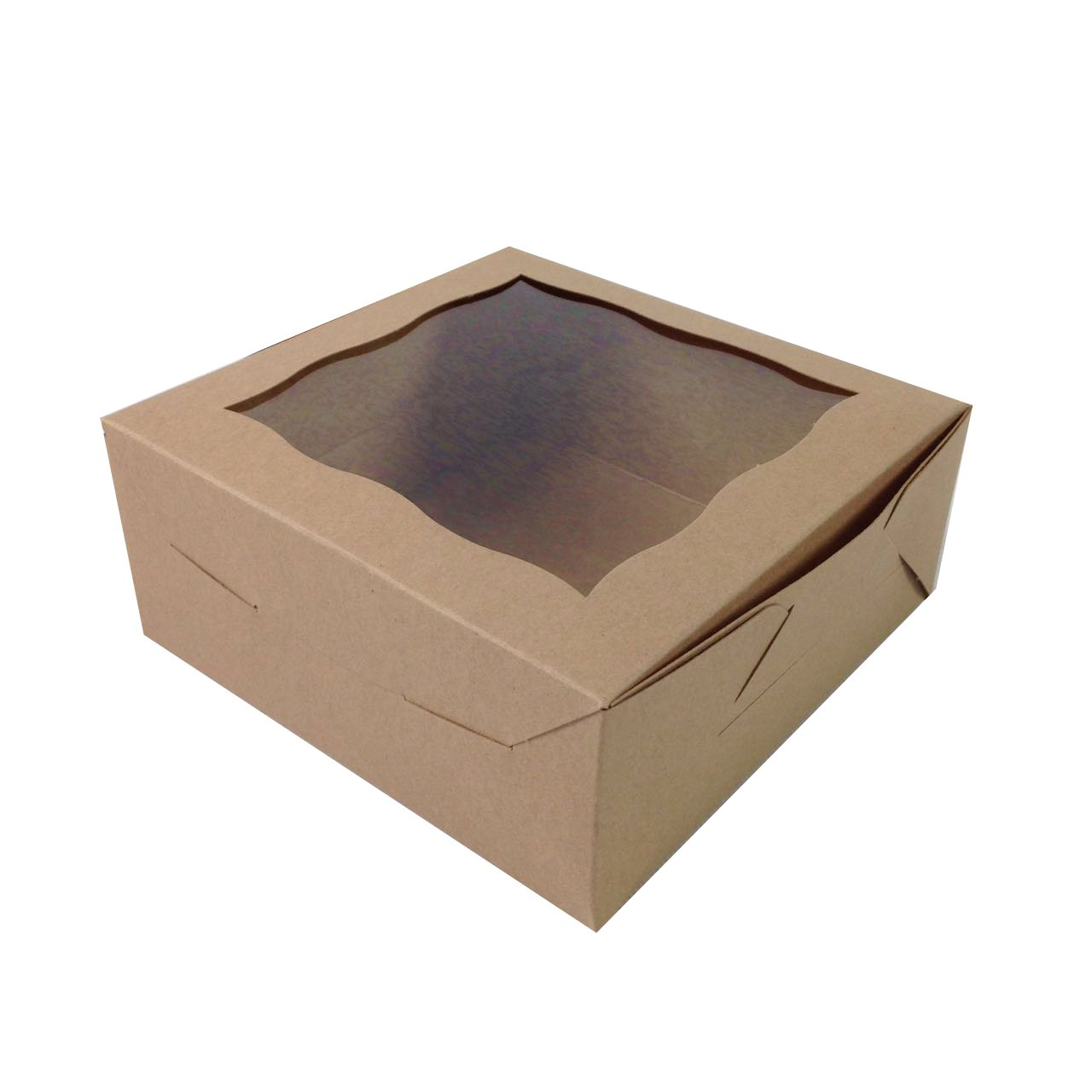 Black Cat Avenue 6'' x 6'' x 2 1/2'' Kraft Brown Cookie Boxes with Window Pastry boxes Paperboard Gift Boxes Bakery Boxes, 5 Count