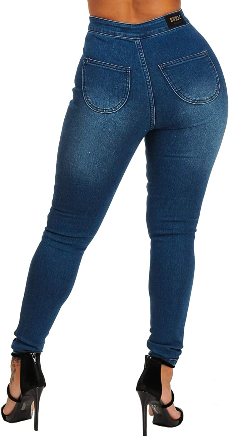 Moda Xpress Ultra High Waisted Jeans for Women Skinny Jeans Stretchable Slim Fit Jeans