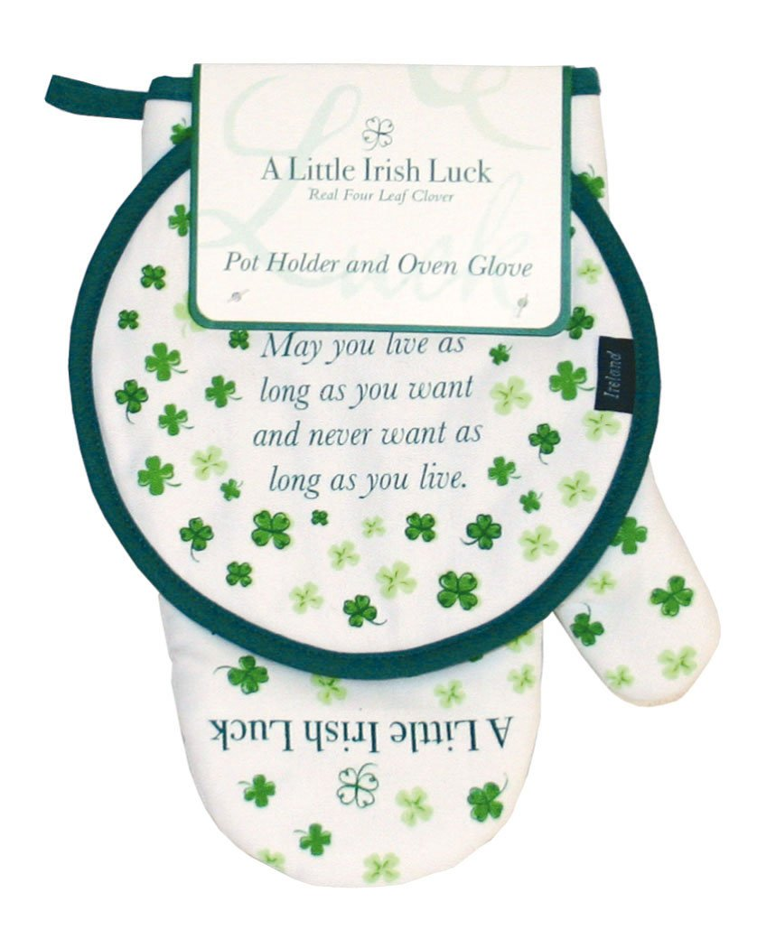 Clover Oven Glove and Pot Holder