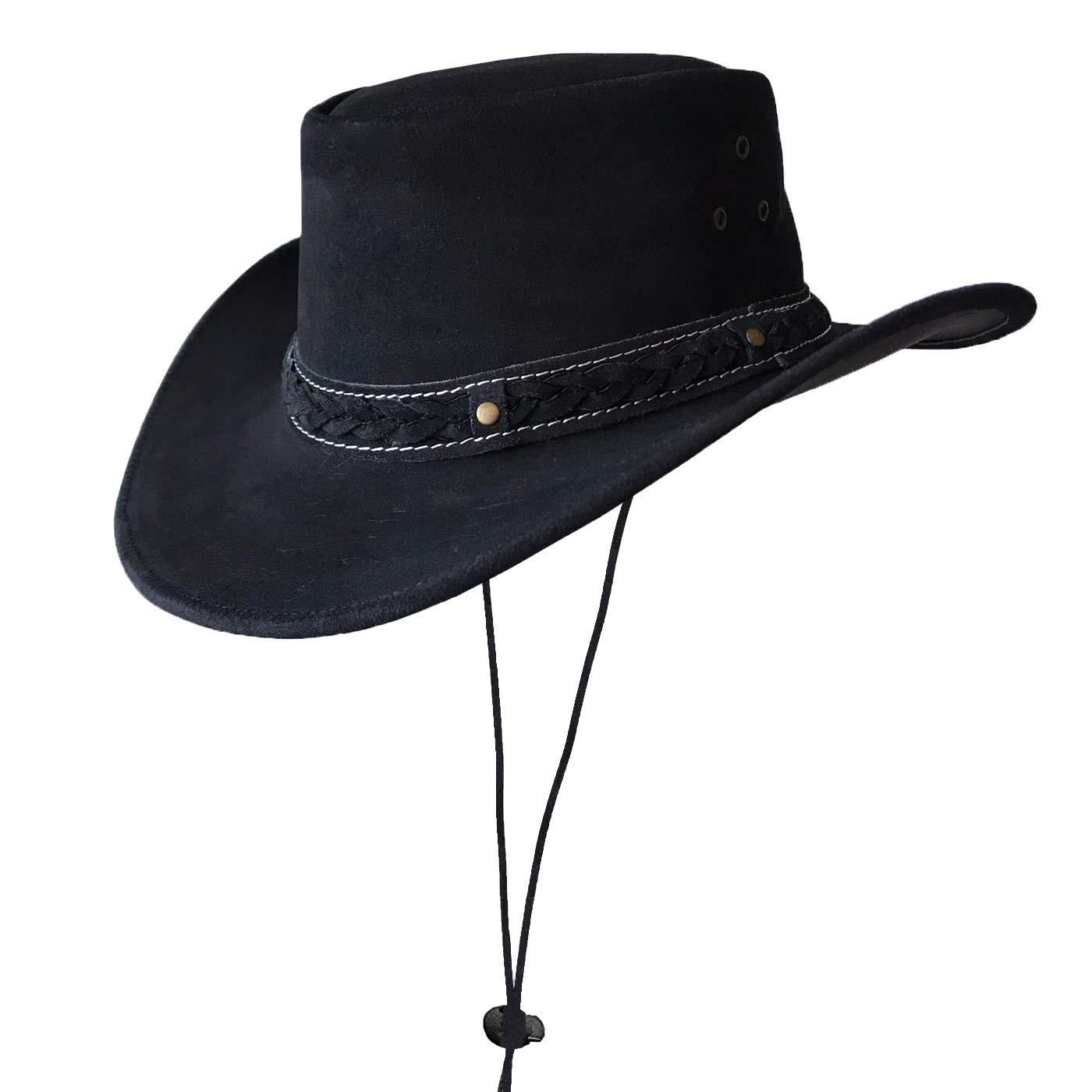 Brandslock Sombrero de Estilo Vaquero Australiano de ala Ancha de Estilo para Hombre