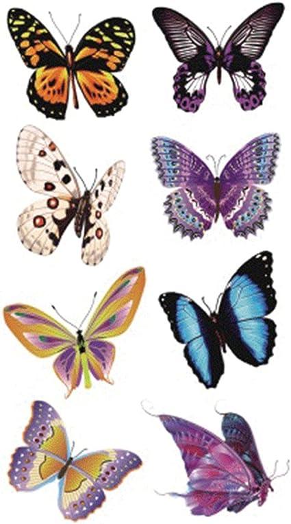 wyuen 5 hojas mariposa mujeres cuerpo tatuaje adhesivo para ...