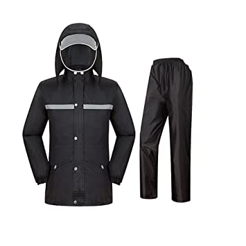RFVBNM Pantalones Impermeables para la Lluvia Traje de Doble ...