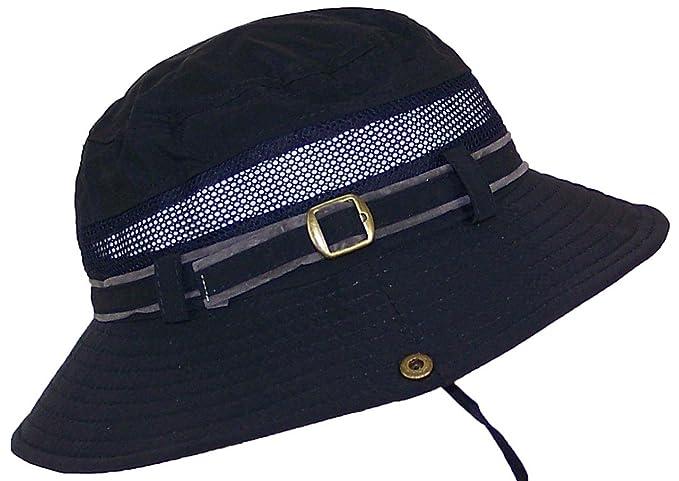 6b9d7bdd55196e Tropic Hats Men's Floppy Safari Hat W/Mesh & Snap Up Sides Adjustable (One