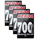 "Kenda 700x35-43c (27x1-3/8"") Schrader Valve Bike Tube Bundle - FOUR (4) PACK"