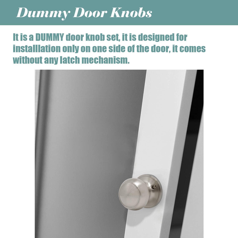 pomos de puerta de acero s/ólido manija de seguridad interior para trastero Pomos de puerta de n/íquel satinado ba/ño 607 dormitorio