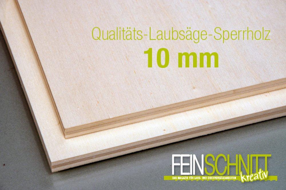 Qualit/äts-Laubs/äge-Sperrholz 2 Stk. 300 x 210 x 10 mm