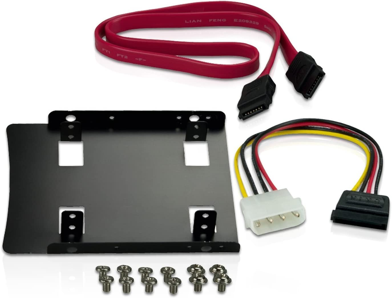 Screws and Cable Set CnMemory Installation Kit for 2.5 Inch SSD//HDD to 3.5 Inch Including Removable Frame