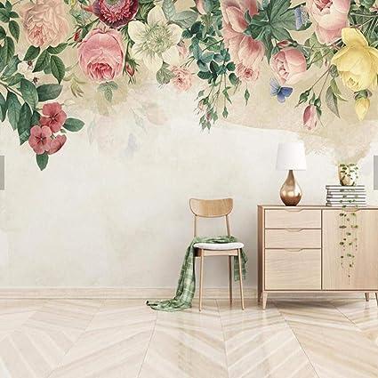 NXMRN Main Moderne Peinture Rose Photo Papier Peint Mur De ...
