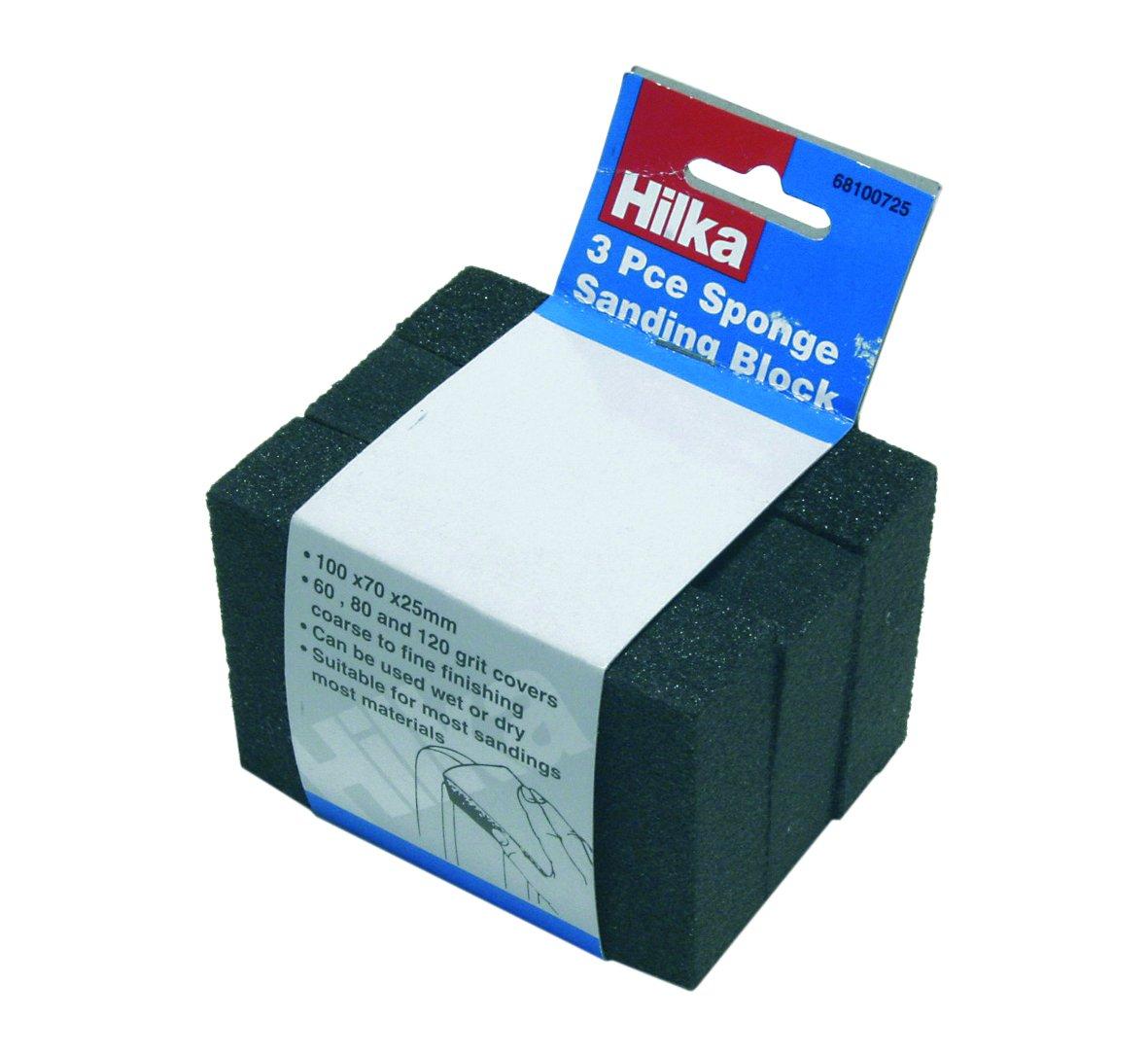 Hilka 68100725 Sponge Sanding Block Set Hilka Tools (UK) Ltd