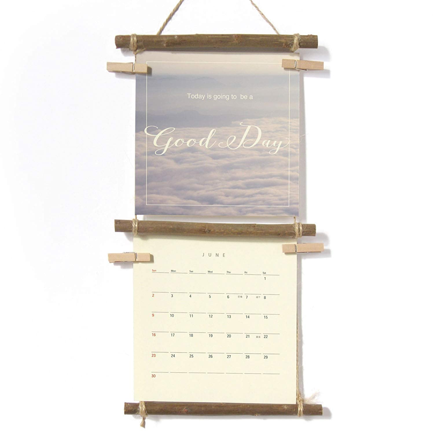 """com """"above the clouds"""" mini wall calendar and planner"""