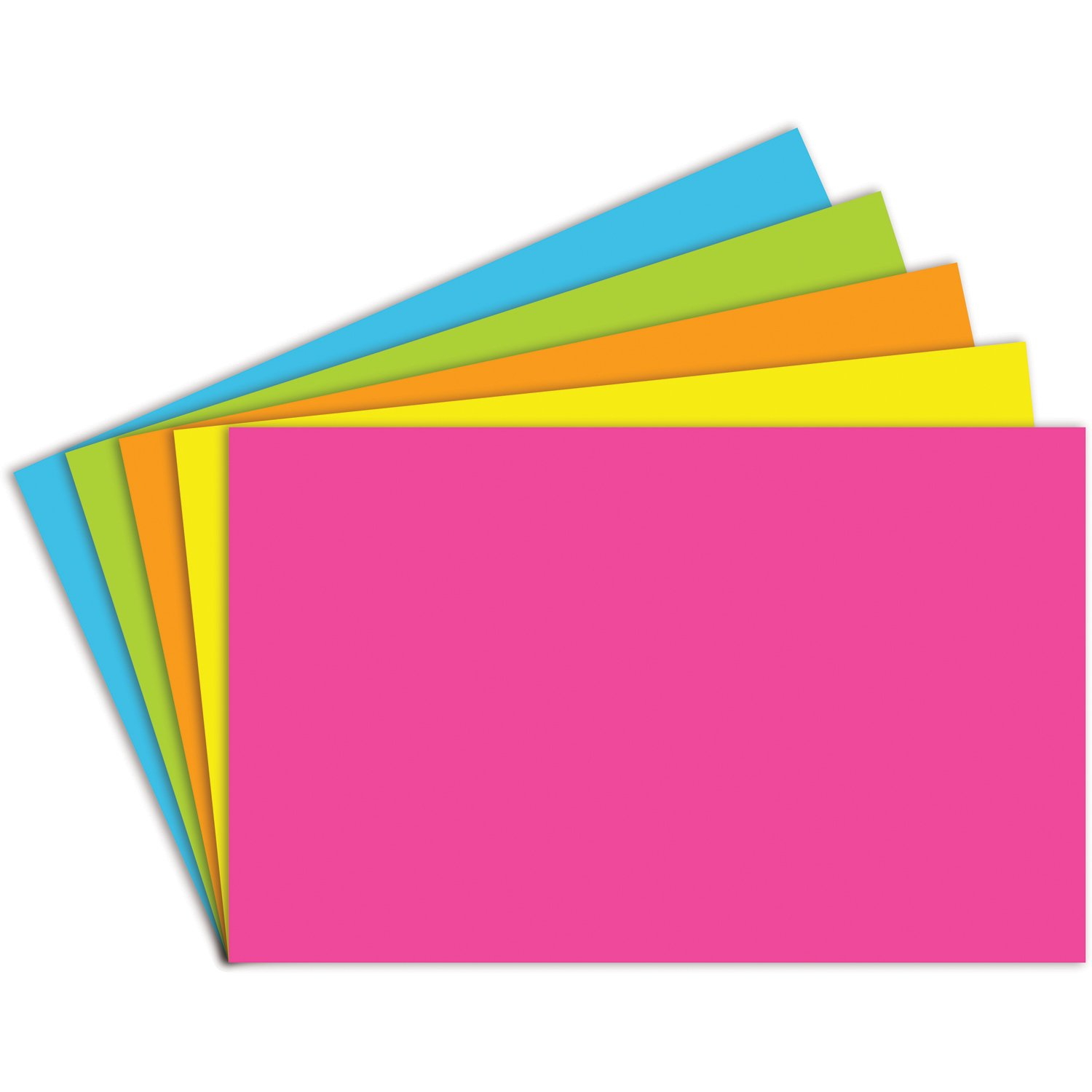 Top Notch Teacher Products Brite Assorted Index Cards Blank, 5'' x 8'', 100/Pack by Top Notch Teacher Products