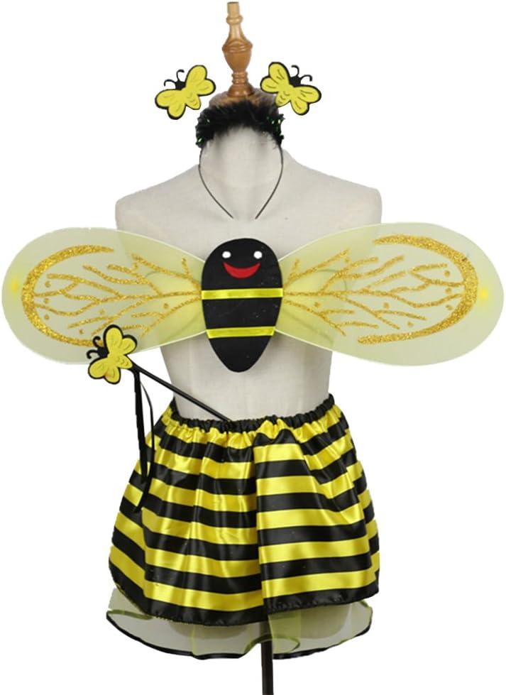 BESTOYARD 4 unids / set trajes de Abeja diadema wing wand tutu ...
