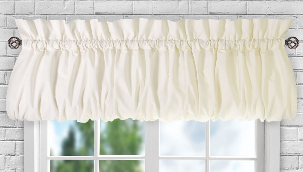 Ellis Curtain Stacey 56-by-30 Inch Tailored Tier Pair Curtains White 56x30