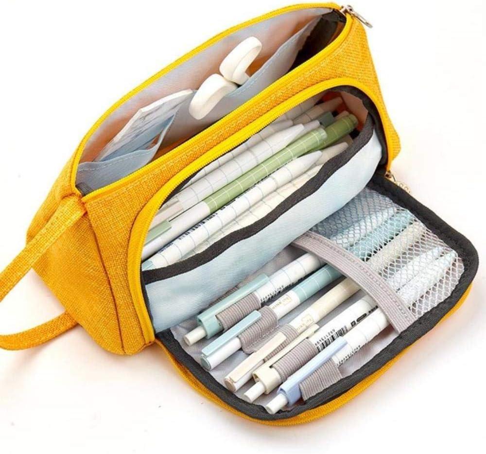 Estuche Kawaii de gran capacidad para lápices, estuche escolar, color amarillo: Amazon.es: Oficina y papelería