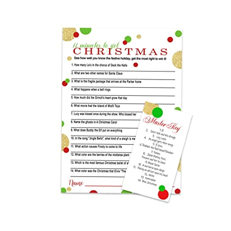 Christmas Trivia Card Game 100 Festive Questions