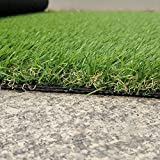 RURALITY Artificial Grass Turf Fake Grass for Patio,Yard and Balcony Decoration (6.5 Ft x 10 Ft)