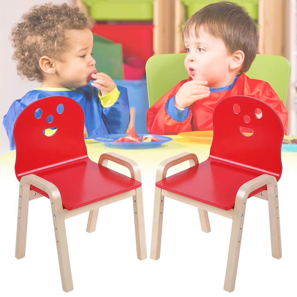 2 Colores a Elegir EBTOOLS Silla de Madera para ni/ños peque/ños de 2 Piezas Silla de Aprendizaje para Uso en el hogar y jard/ín de Infantes Burlywood