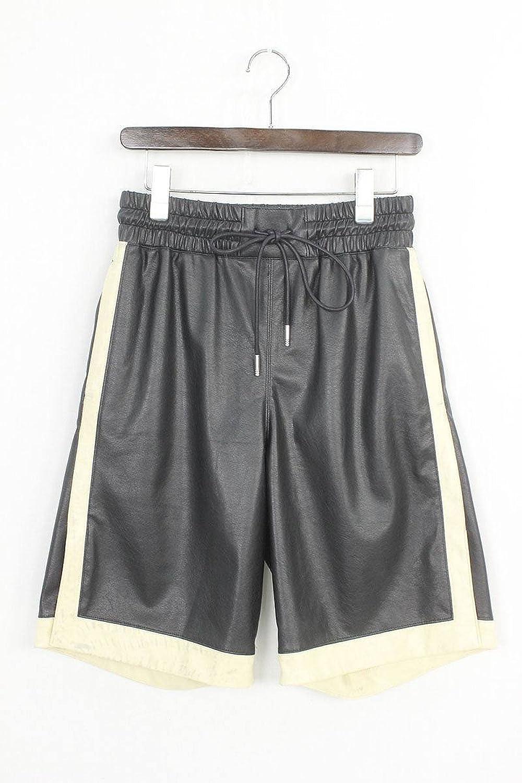(シンヤヤマグチ) 【18SS】【DM08/Basket Shorts】シンセティックレザーバスケットハーフパンツ(M/ブラック×ベージュ) 中古 B07FKJMBQB  -